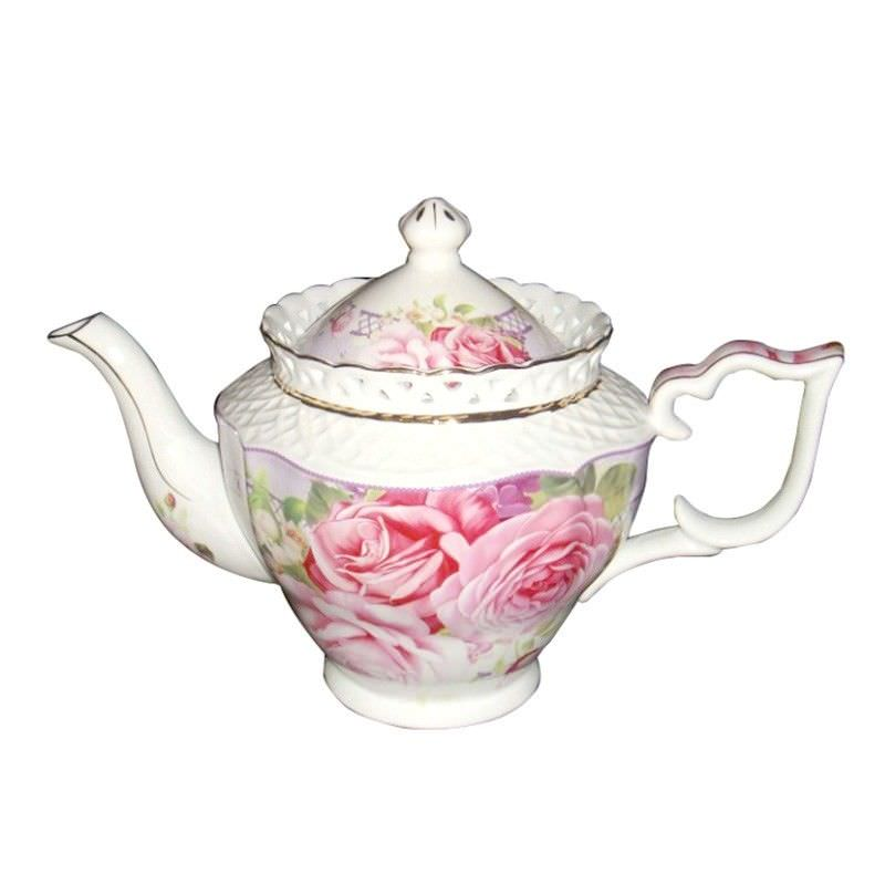 Pink Rose Teapot 25X11.5X18Cm