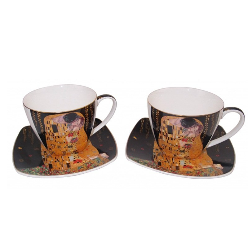 The kiss 2 cups and 2 saucers tea set