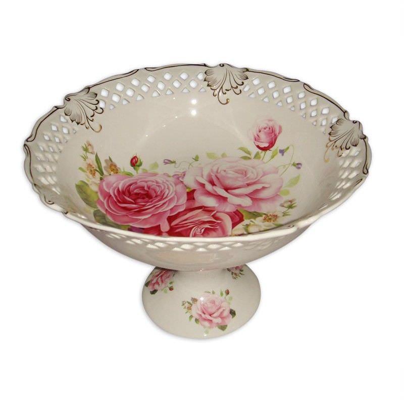 Pink Rose Fruit Bowl Diameter 28cm
