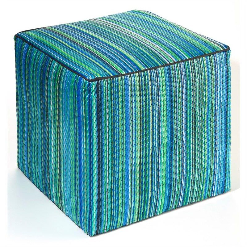 Cancun Turquoise Blue Ottoman