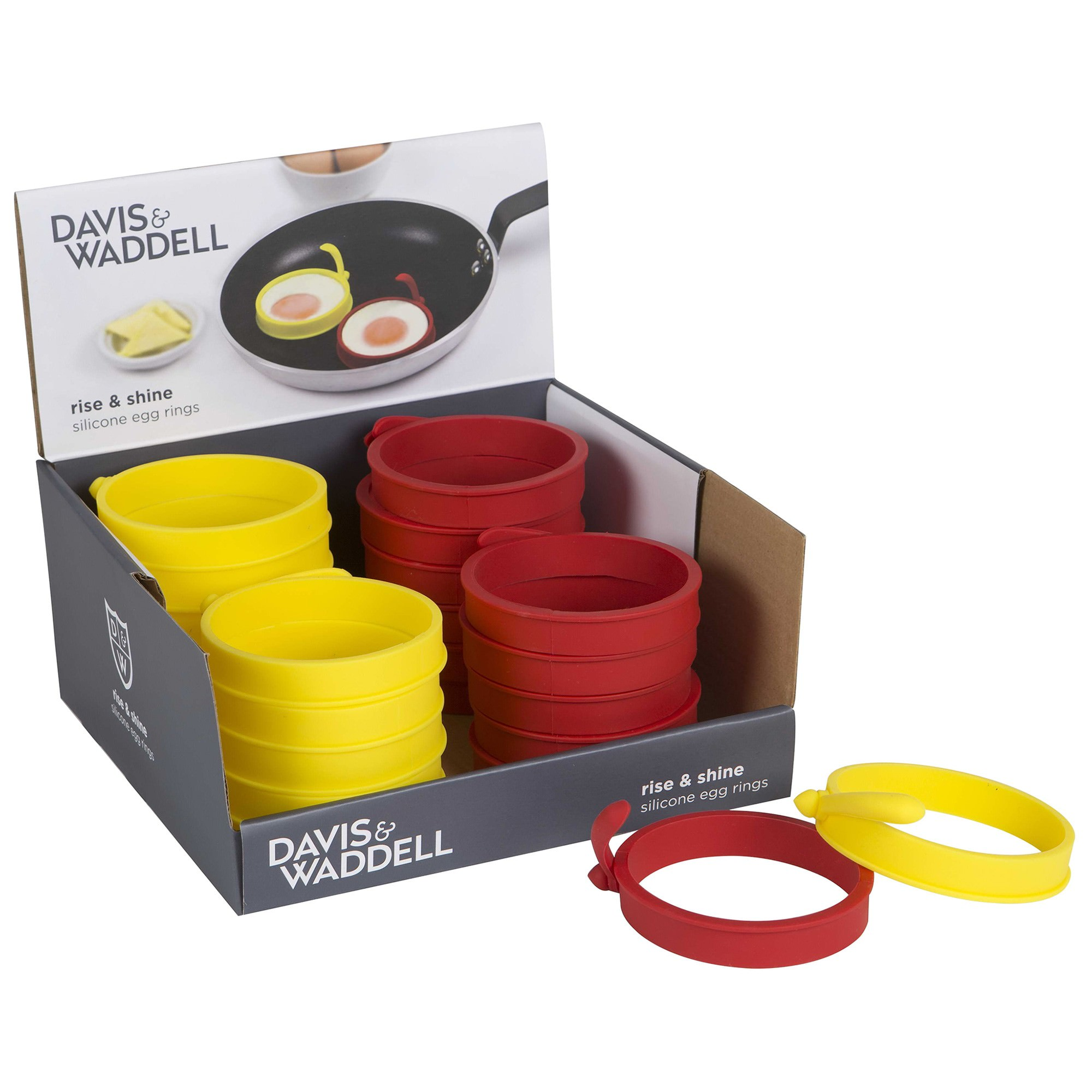 Davis & Waddell Silicone Egg Rings, 24 Pack