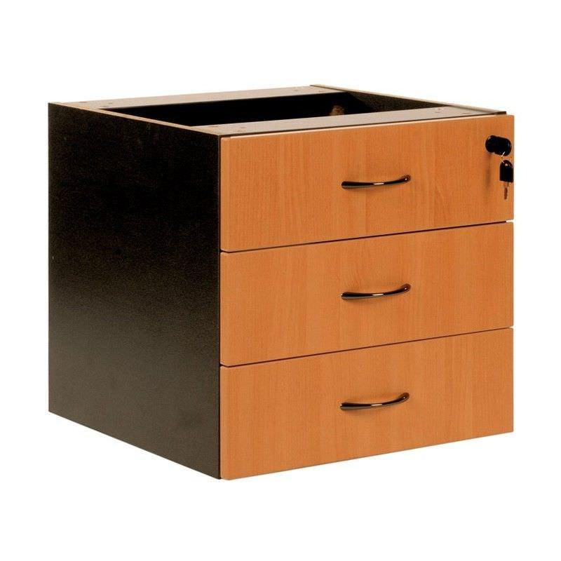 Logan 3 Drawer Storage Chest, Beech / Black