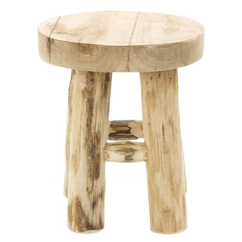 Cancun Teak Timber Stool Model Display Stand