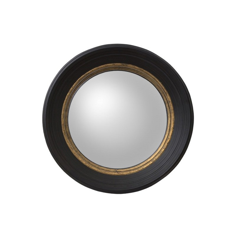 London Round Wall Mirror, 65cm, Black