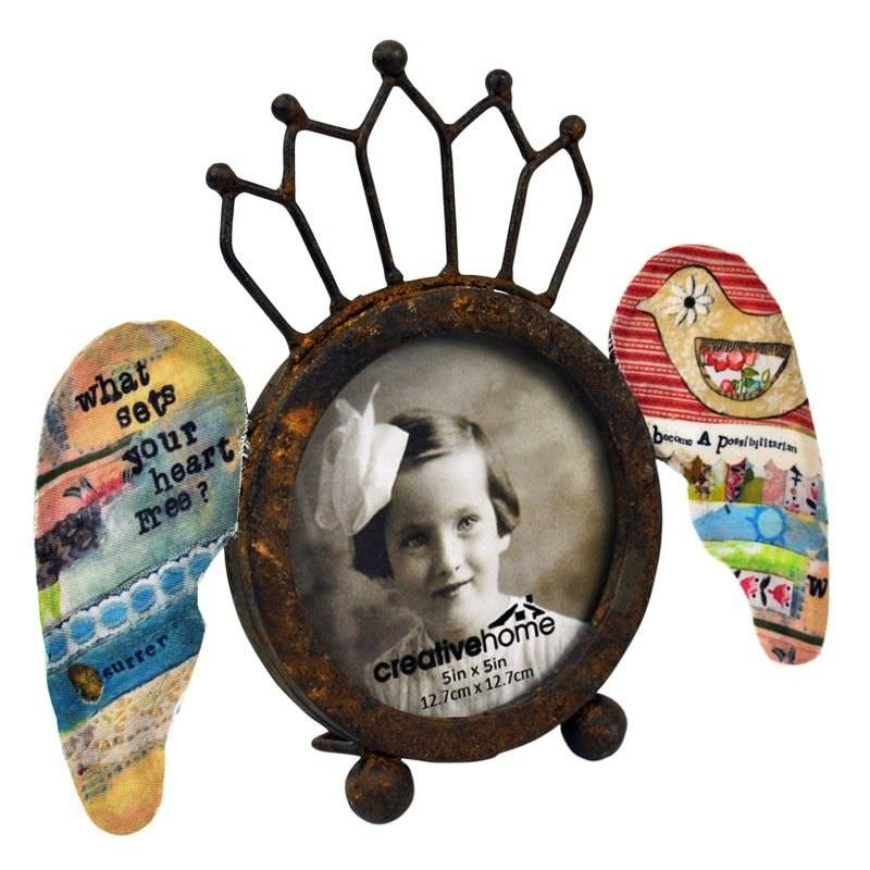 Kelly Rae Round Decorative Metal Photo Frame
