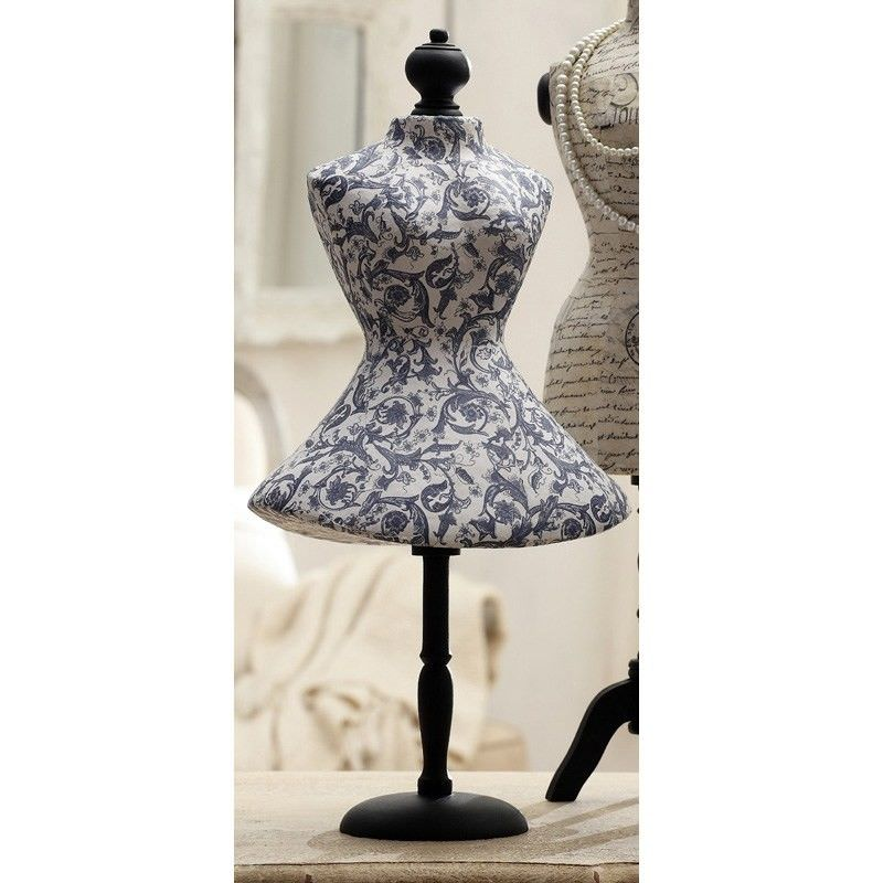 Decoupage Papermache Mannequin Jewellery Holder - 55cm