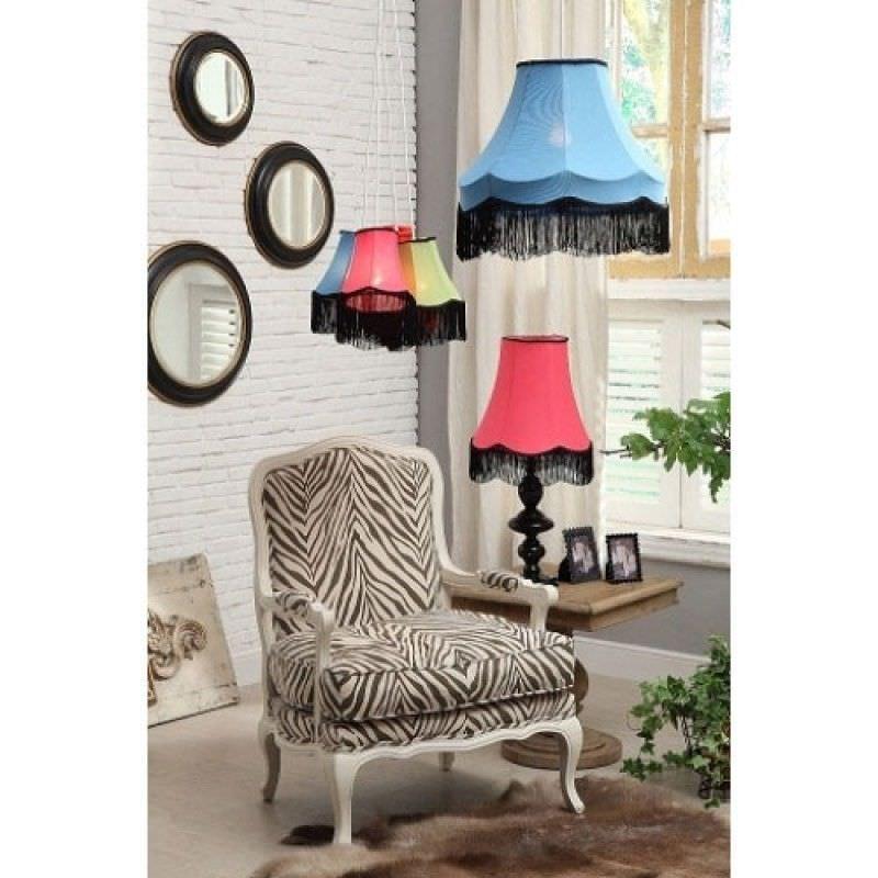 Zebra Print Upholstered Wooden Armchair