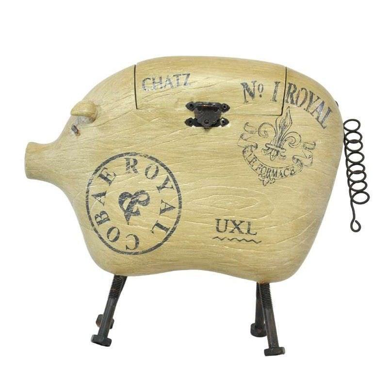 Cobae Royal Wooden Pig Display Box - 31cm