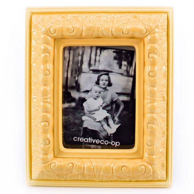 Creativecoop Yellow Dolomite Photo Frame