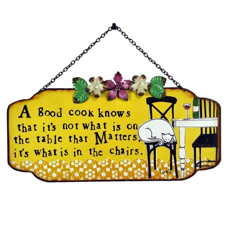 Leigh Tin Wall Plaque with Chain - Good Cook