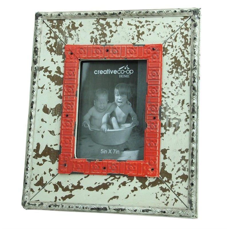 Rochefort 5x7 Inch Distressed Wooden Photo Frame - Cream