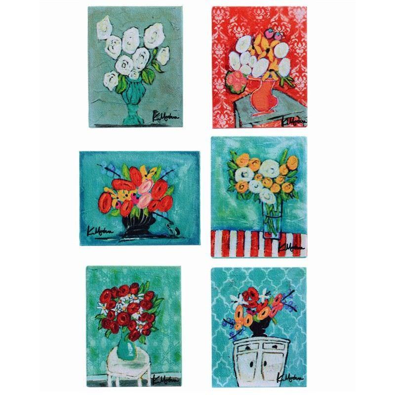 Kellie 6 Piece Canvas Magnet Set
