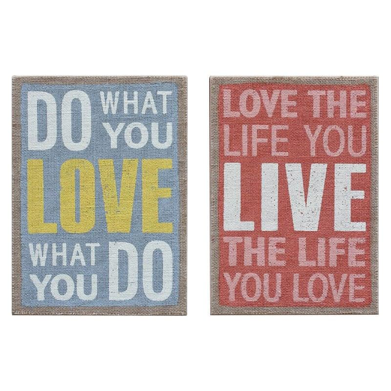 Galway 2 Piece Motto Wall Plaque Set