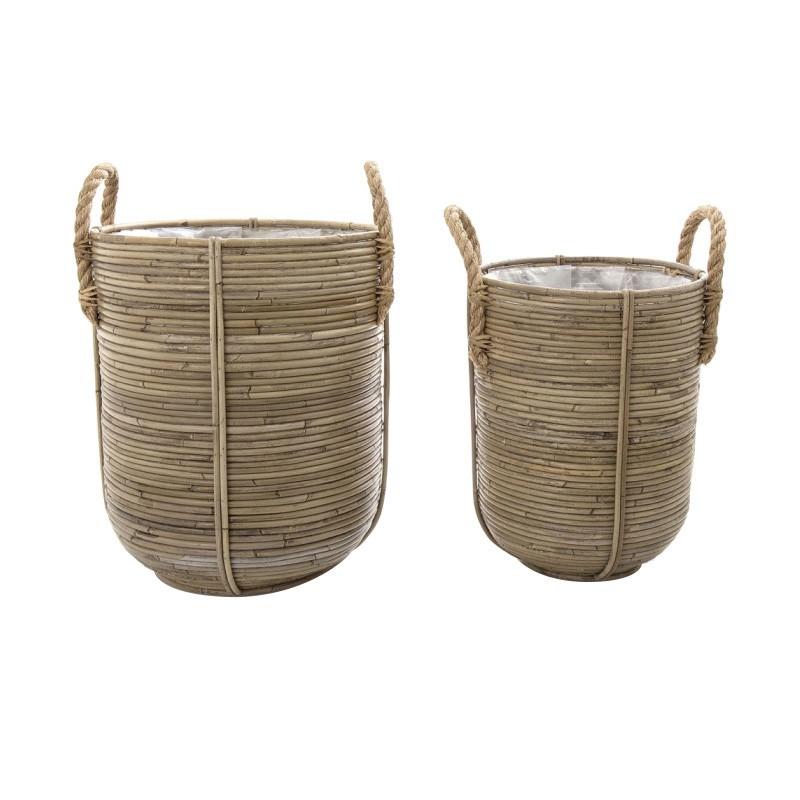Forster 2 Piece Rattan Planter / Basket Set