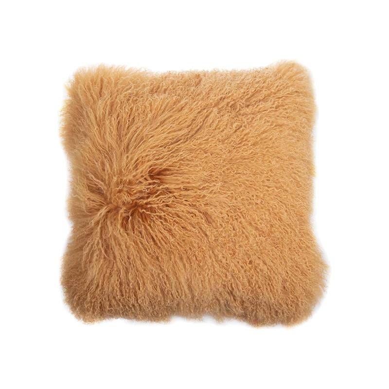 Amersham Tibetan Lambswool Scatter Cushion, Terra