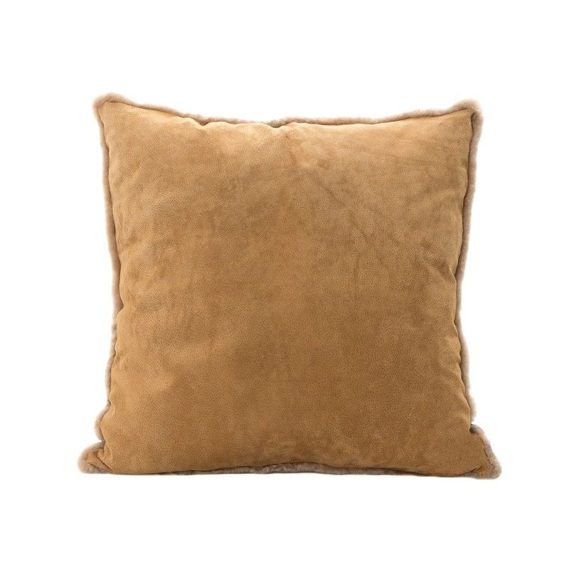 Tibetan Suede Scatter Cushion, Small, Camel
