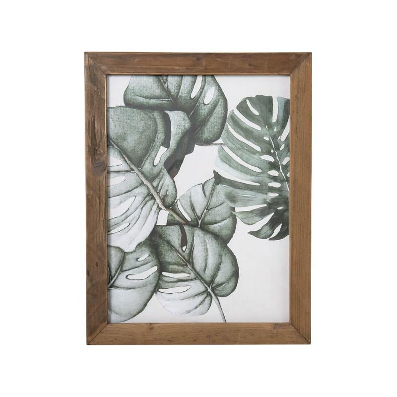 Norton Framed Wall Art Print, Monsteria Leaf, 55cm
