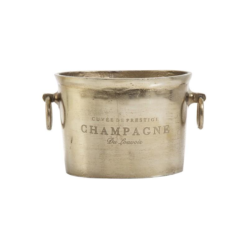 Louvois Metal Ice Bucket, Brass