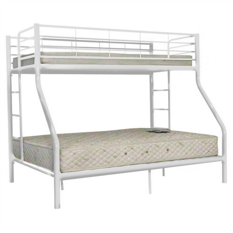Darwin Metal Trio Bunk Bed - White