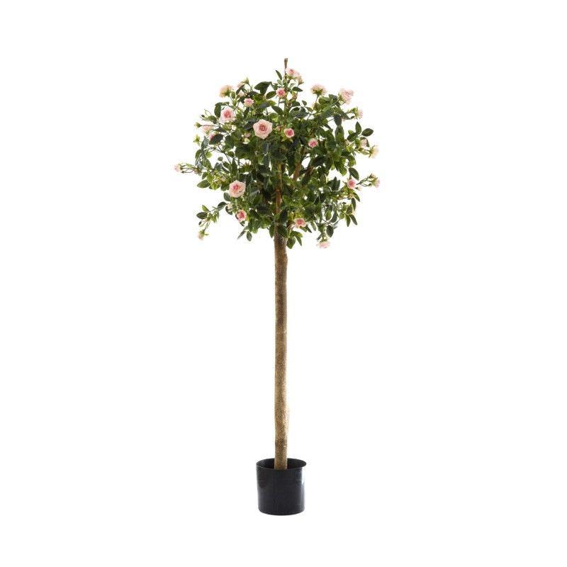 Artificial Diamond Rose Ball Tree, Pink Flower, 120cm
