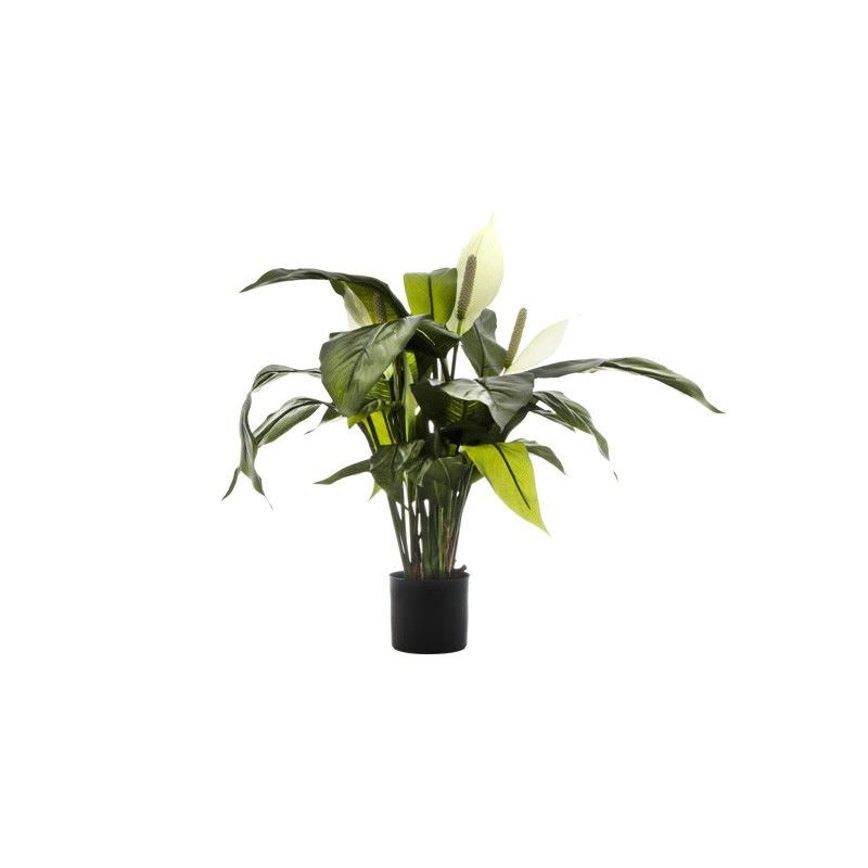 Artificial Spathiphyllum Lily, White Flower, 63cm