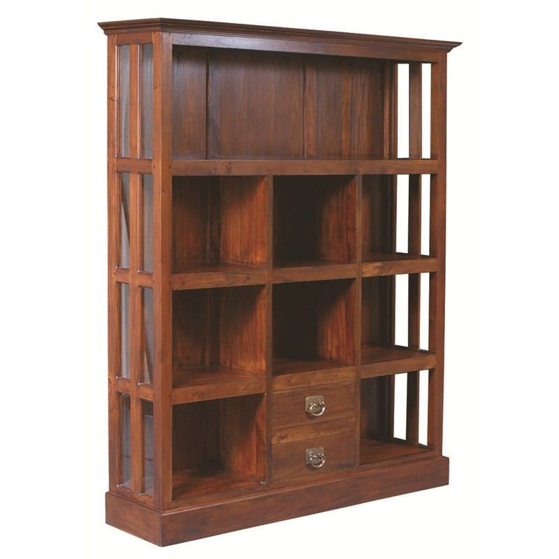 Solid Mahogany Timber 9 Block Display Unit,  Mahogany
