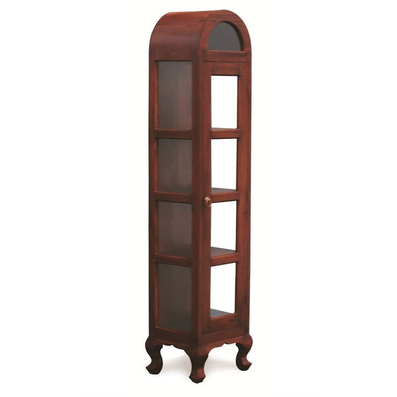 Gaidar Solid Mahogany Timber Single Door Display Cabinet - Mahogany