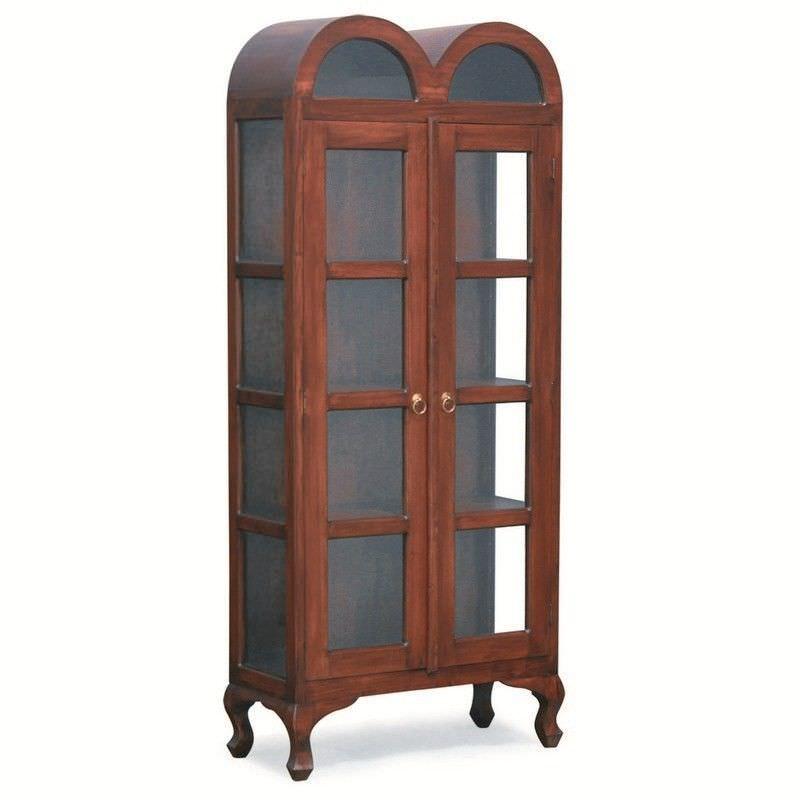 Gaidar Large Solid Mahogany Timber Double Door Display Cabinet - Mahogany
