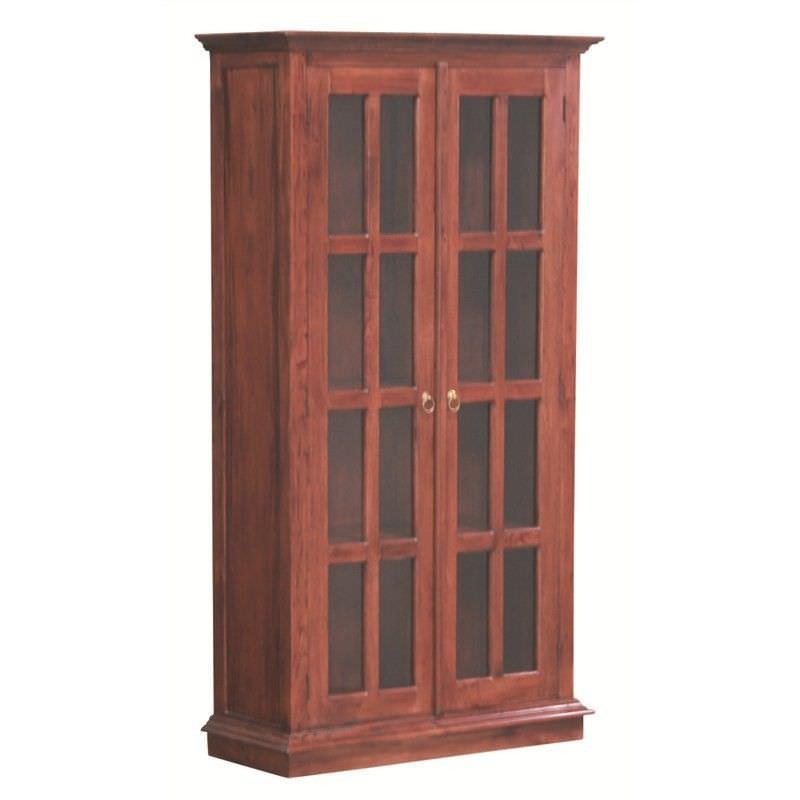 Tasmania Mahogany Timber 2 Door Display Cabinet, Mahogany