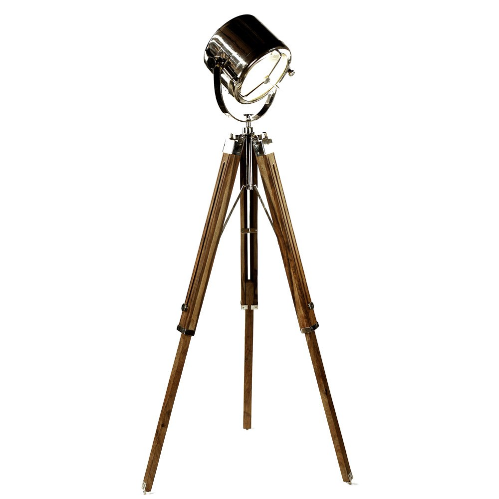 Ruari Wooden Tripod Searchlight Floor Lamp