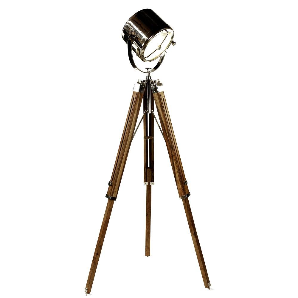 Ruari Wooden Tripod Searchlight Floor Lamp