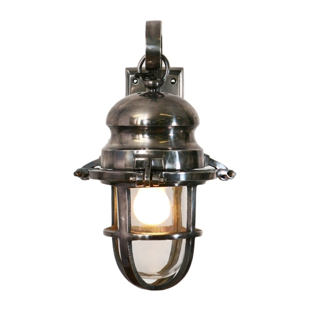 Claude Antique Metal Cage Wall Sconce