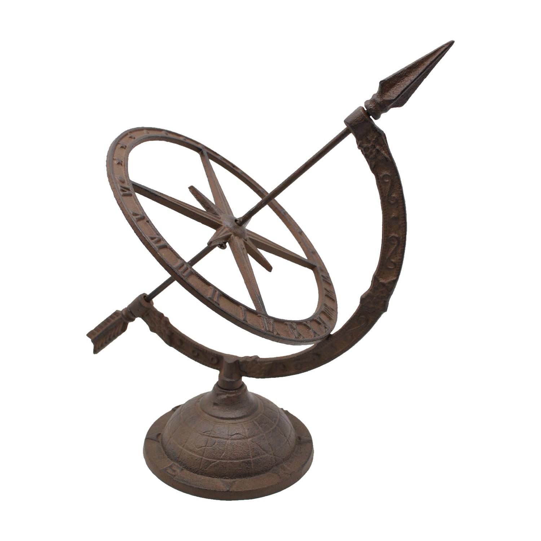 Rustic Iron Traditonal Sundial Decor