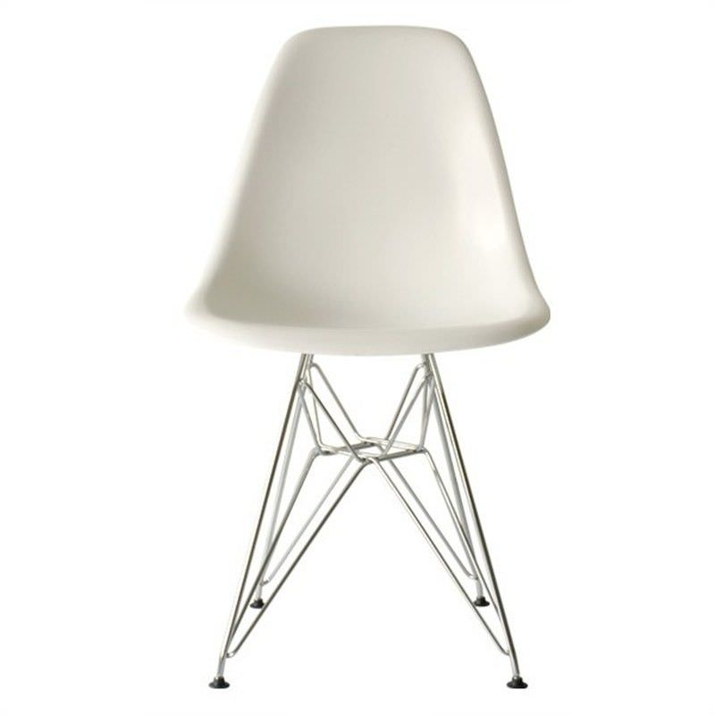 Replica Charles and Ray Eames DSR Eiffel Dining Chair, White