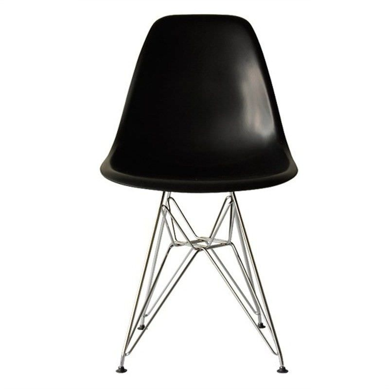 Replica Eames DSR Eiffel Dining Chair - Black