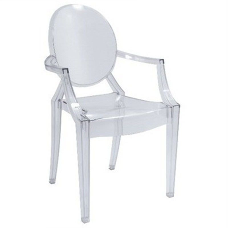 Commercial Grade Replica Philippe Starck Louis Ghost Dining Armchair - Clear