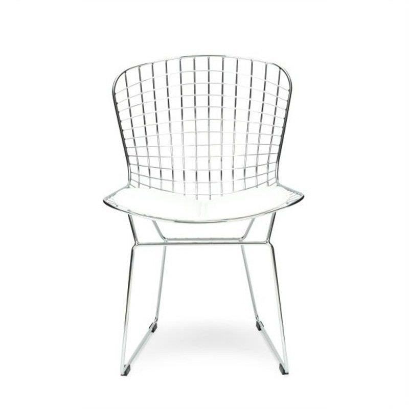 Replica Bertoia Wire Side Chair - White