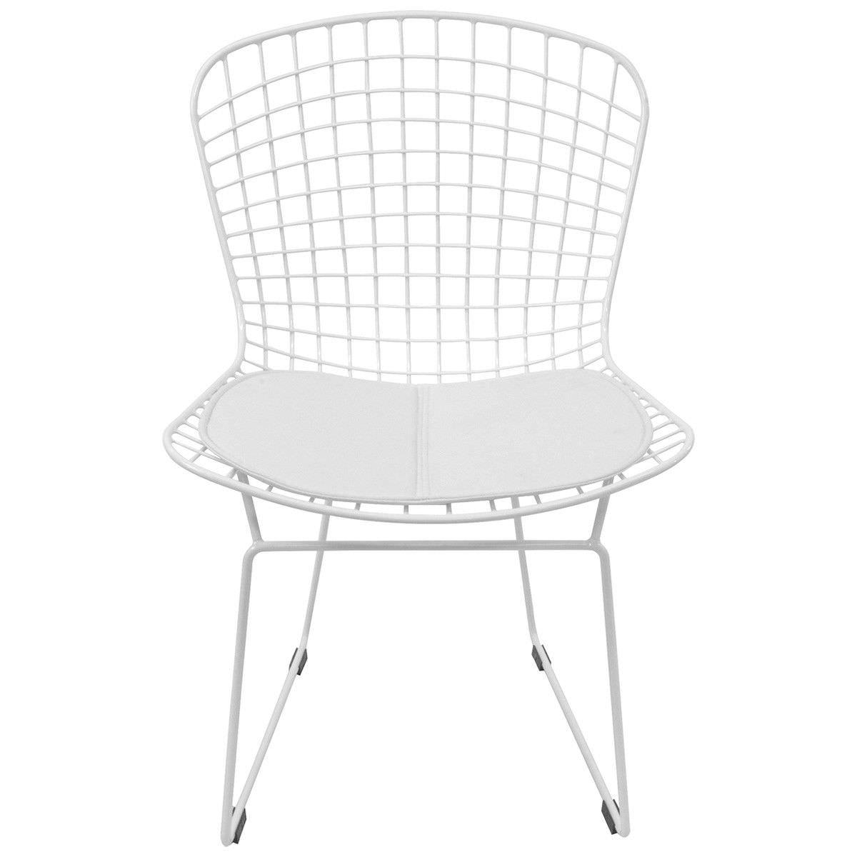 Replica Harry Bertoia Steel Side Chair, White