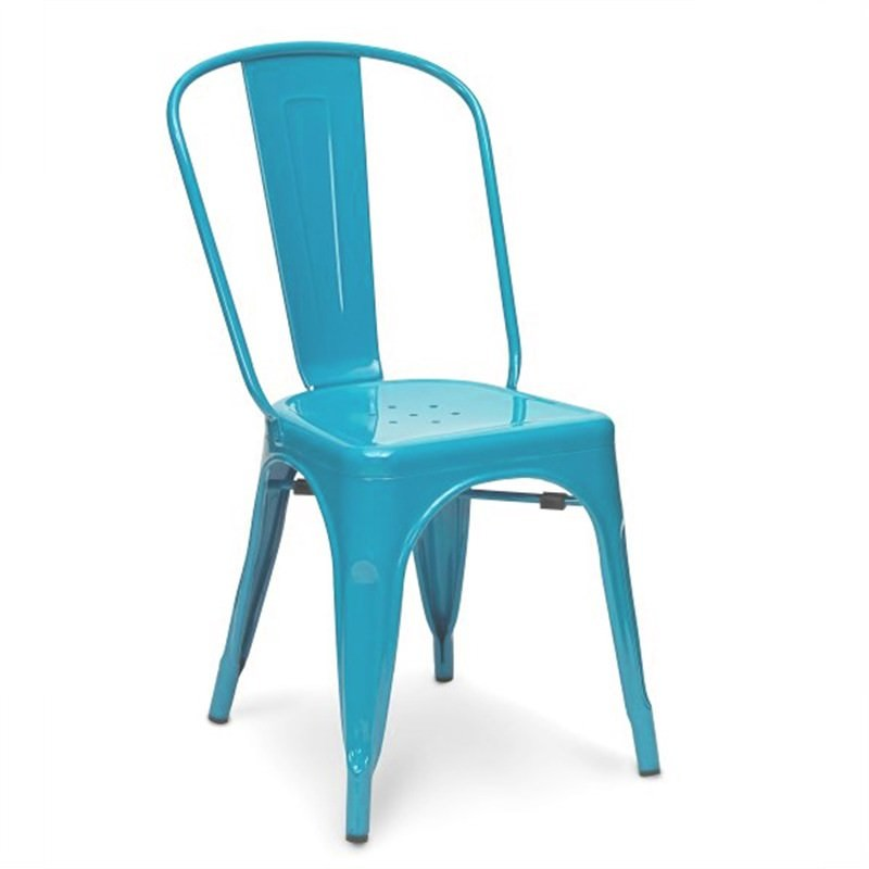Commercial Grade Replica Xavier Pauchard Tolix Chair - Blue