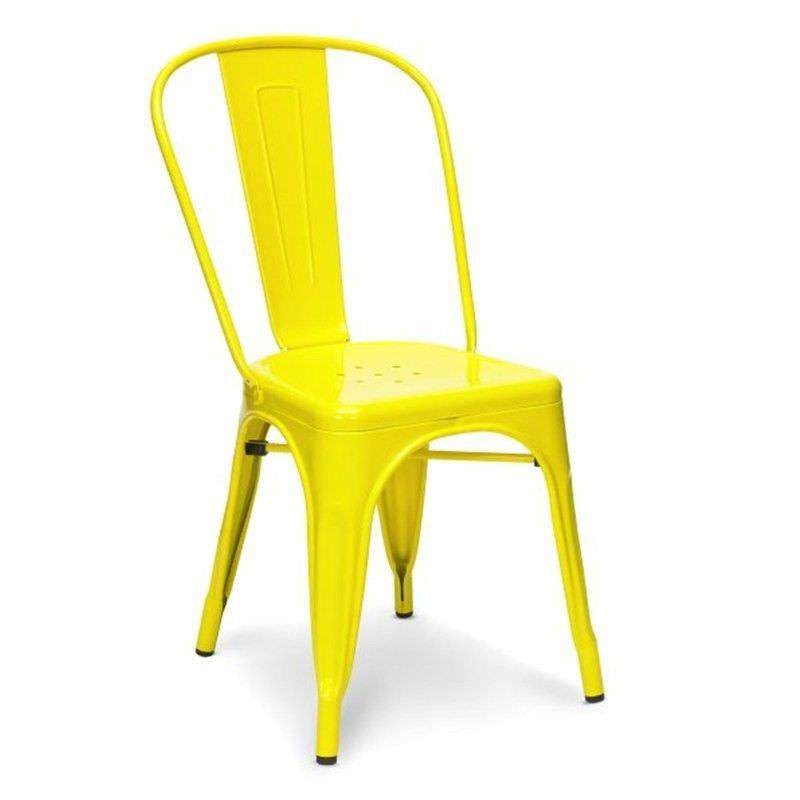 Commercial Grade Replica Xavier Pauchard Tolix Chair - Yellow