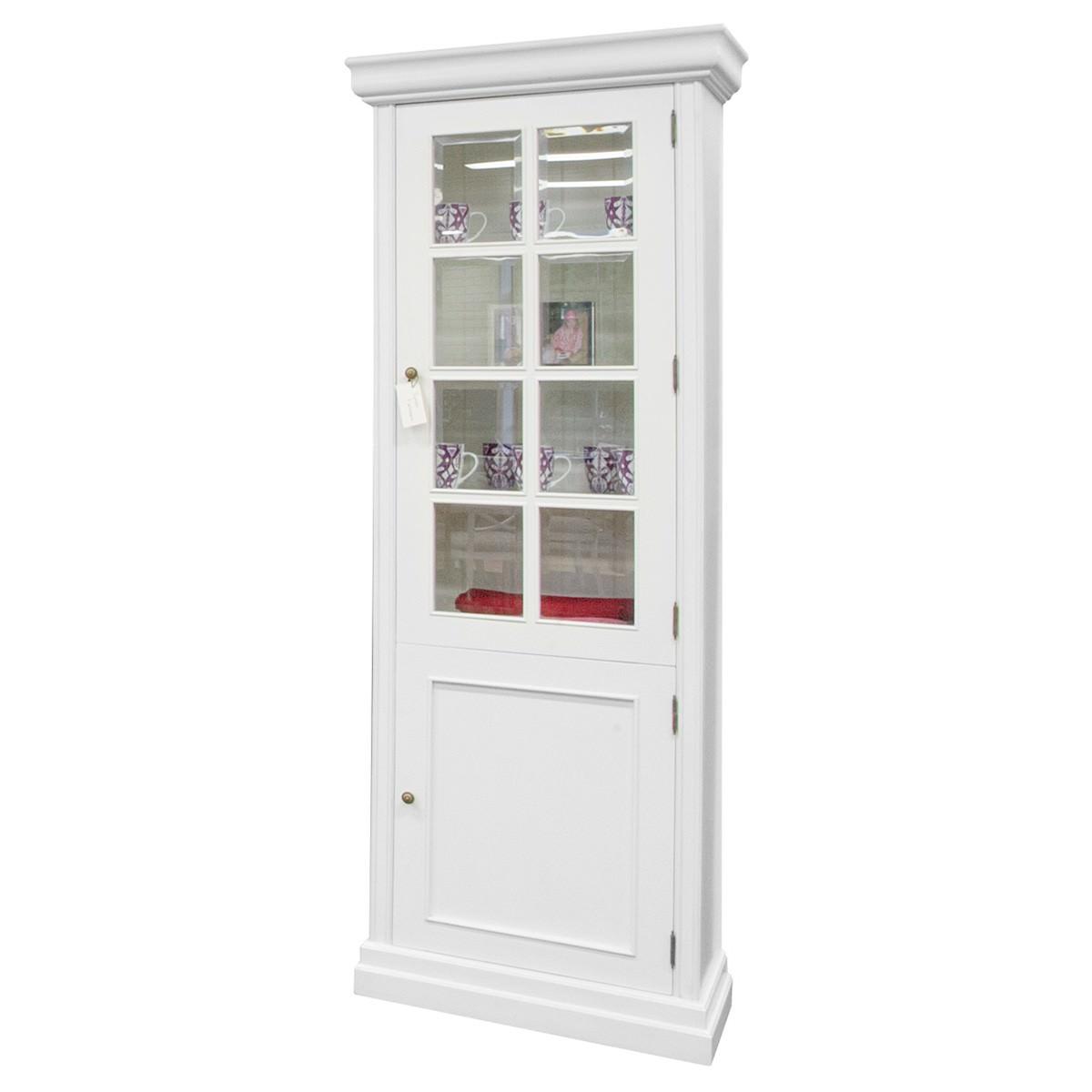 Davenport Mahogany Single Display Cabinet, White