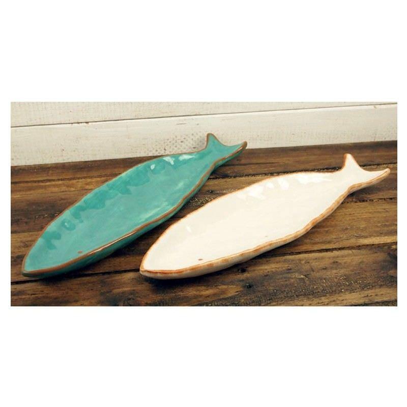 Set of 2 Rotherhithe Dolomite Fish Trays - 41.5cm