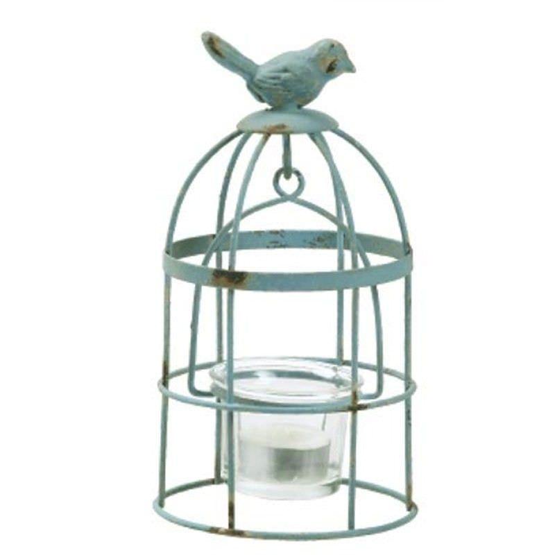 Rustic Metal Birdcage Design Hanging Tealight Holder