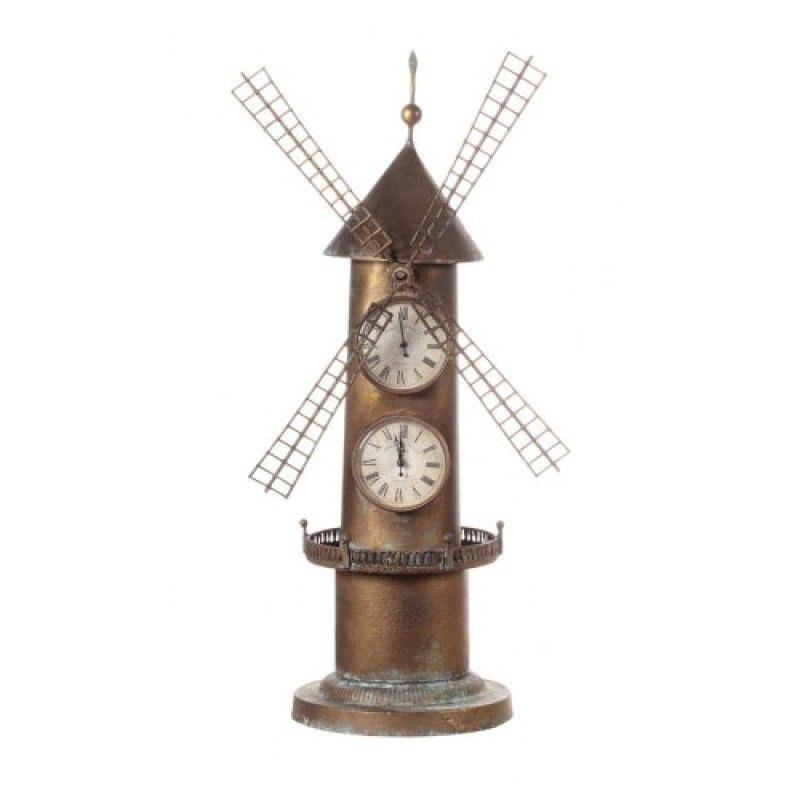 Windmill Metal Standing Clock - 77cm