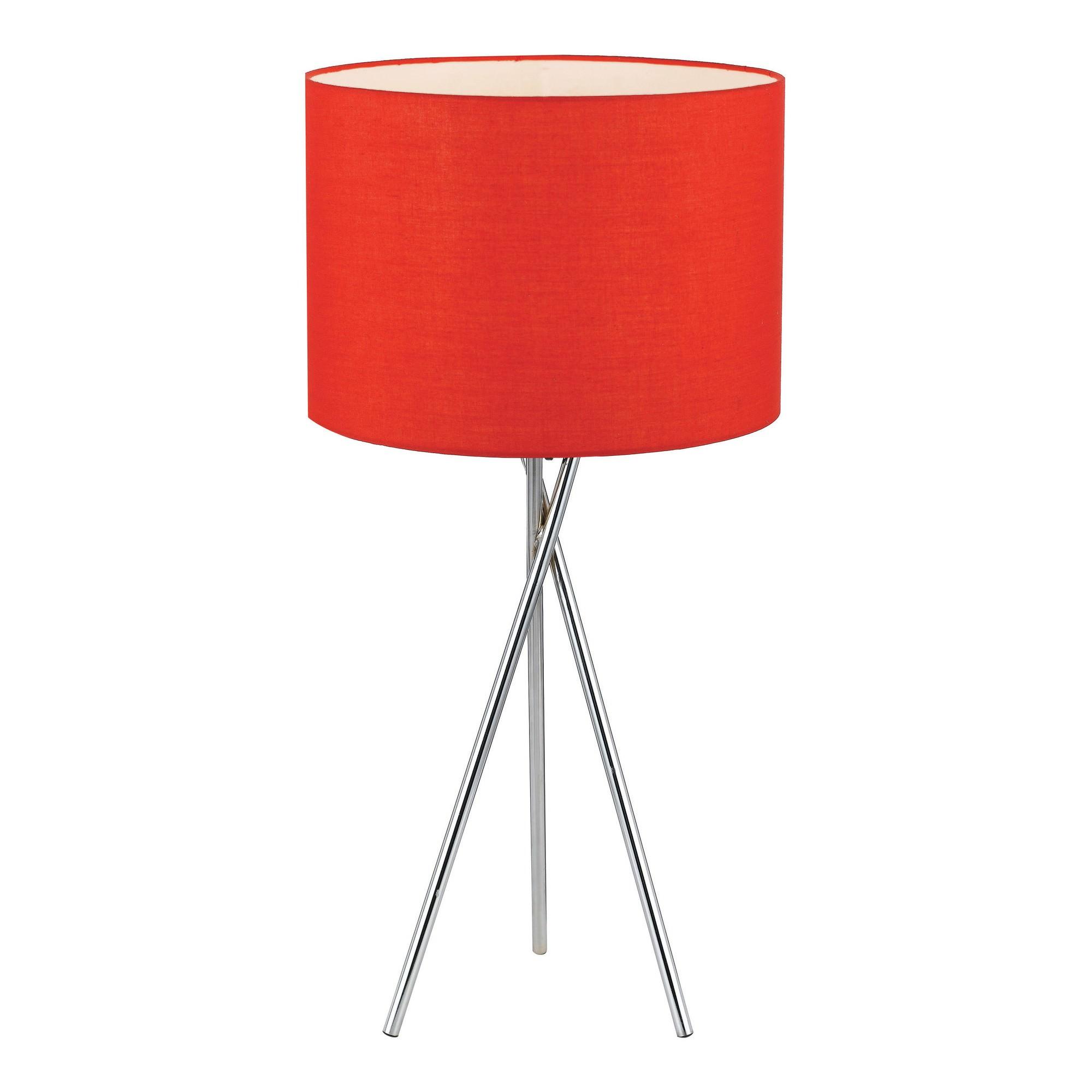 Denise Metal Tripod Table Lamp, Silver / Red