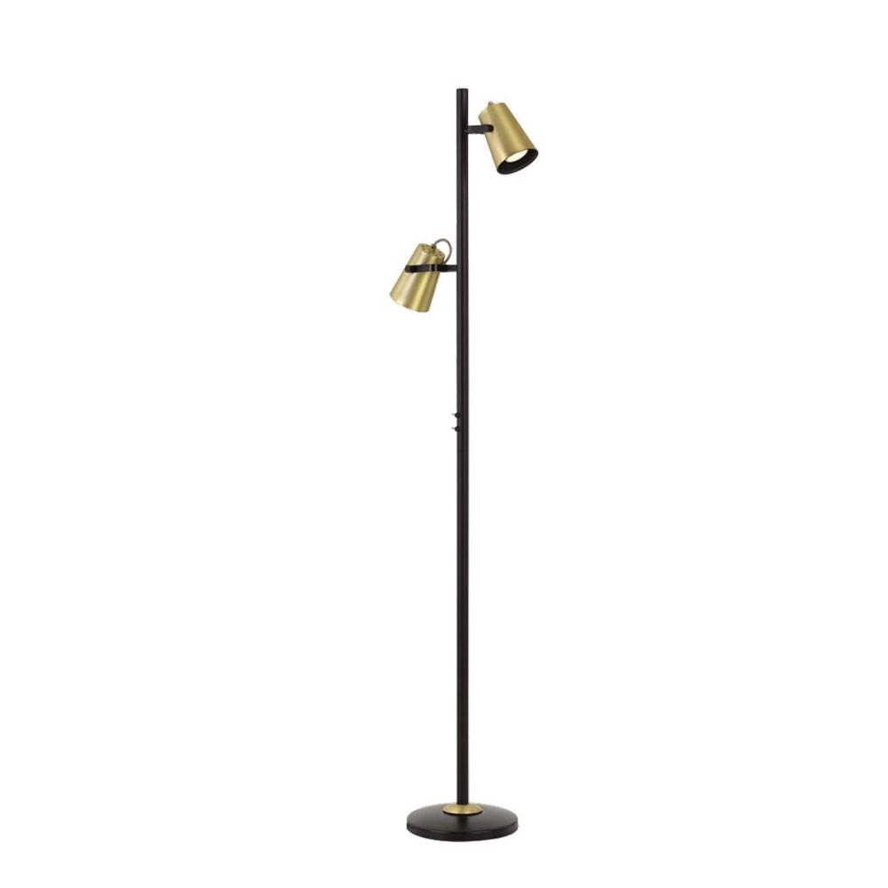 Deny Metal Floor Lamp, 2 Light