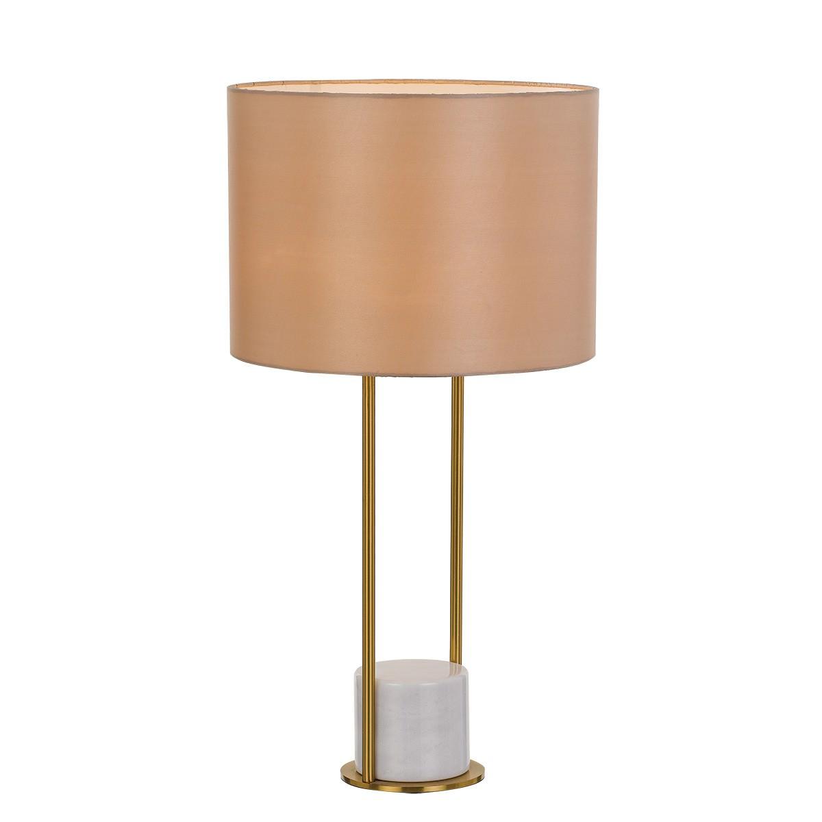 Desire Marble Base Table Lamp, White / Cream