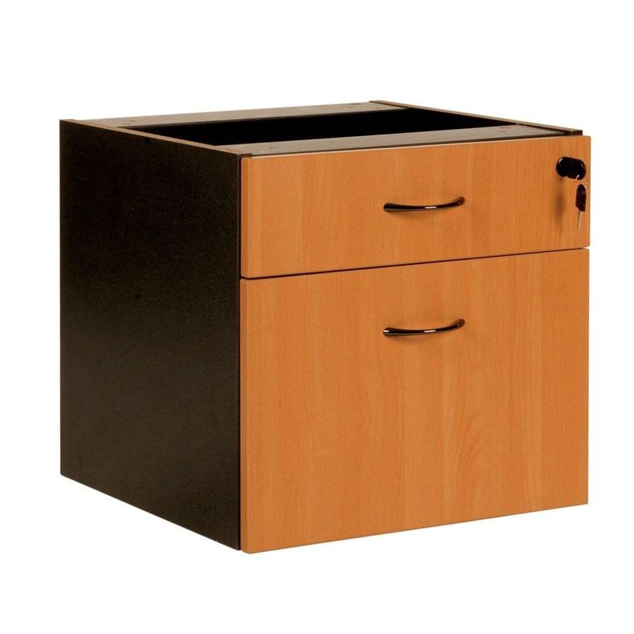 Logan Drawer & File Combo Storage Chest, Beech / Black
