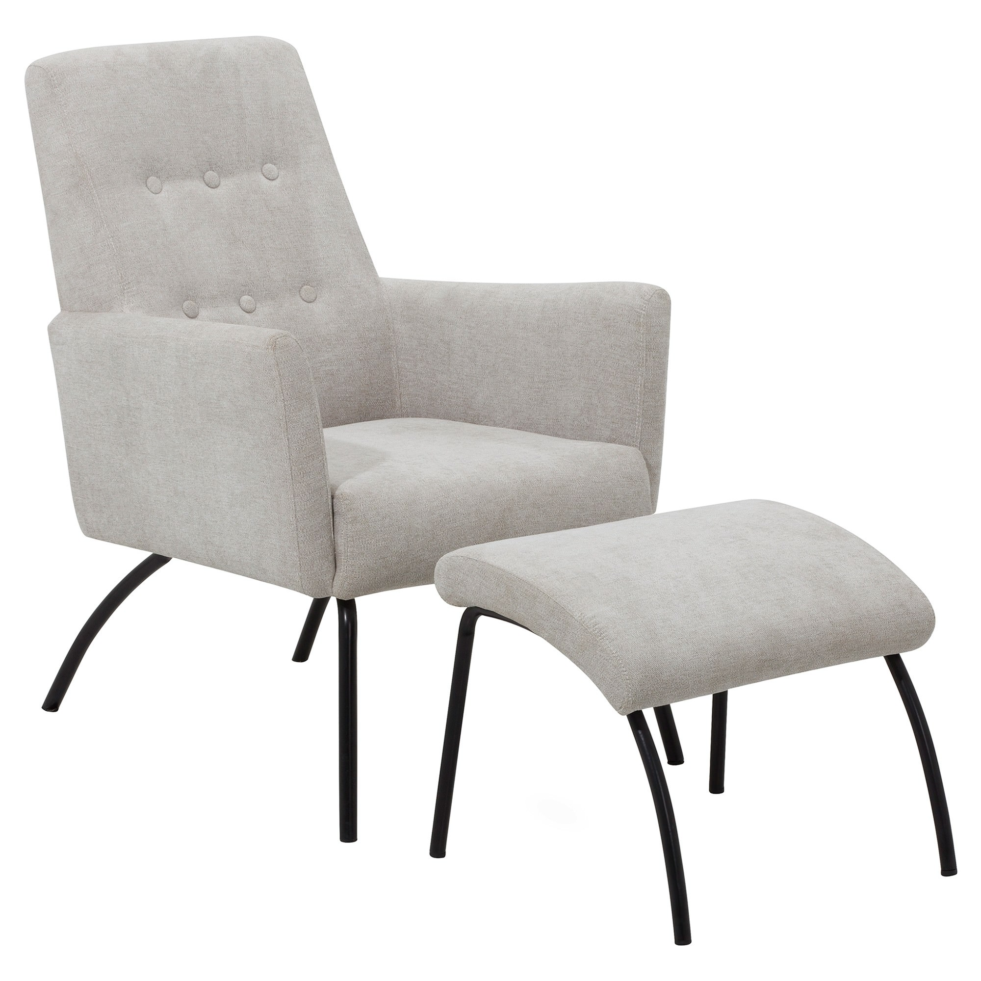 Foxton Fabric Leisure Armchair with Footstool