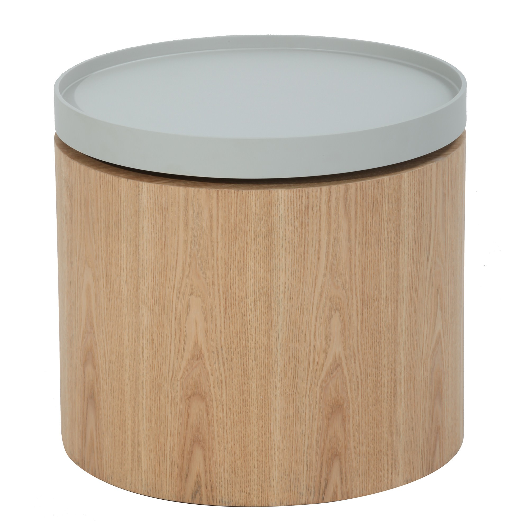 Carden Wooden Tray Top Side Table Grey Tray Ash Ven
